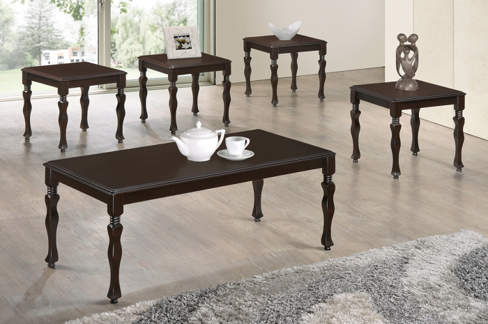 Akim 1+4 Coffee Set - 1+2 & 1+4 Coffee Table Set - Golden Tech Furniture Industries Sdn Bhd