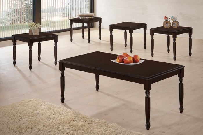 Conica 1+4 Coffee Table Set - 1+2 & 1+4 Coffee Table Set - Golden Tech Furniture Industries Sdn Bhd