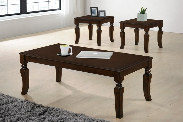 Cooper 1+2 Coffee Table Set - 1+2 & 1+4 Coffee Table Set - Golden Tech Furniture Industries Sdn Bhd