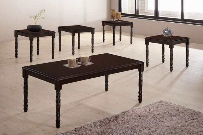 Gabi 1+4 Coffee Table Set - 1+2 & 1+4 Coffee Table Set - Golden Tech Furniture Industries Sdn Bhd