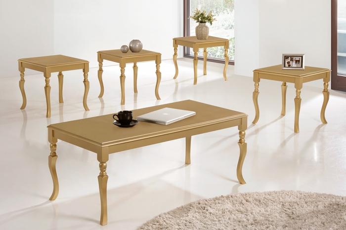 Jirawi 1+4 Coffee Table Set - 1+2 & 1+4 Coffee Table Set - Golden Tech Furniture Industries Sdn Bhd