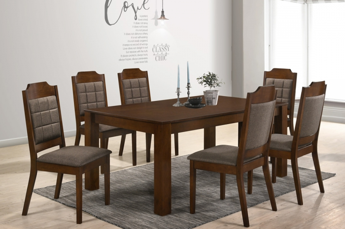 Jodan 1+6 Dining Set - Dining Set - Golden Tech Furniture Industries Sdn Bhd