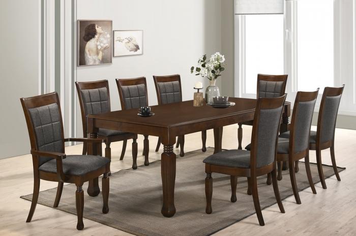 Loris 1+8 Dining Set - Dining Set - Golden Tech Furniture Industries Sdn Bhd