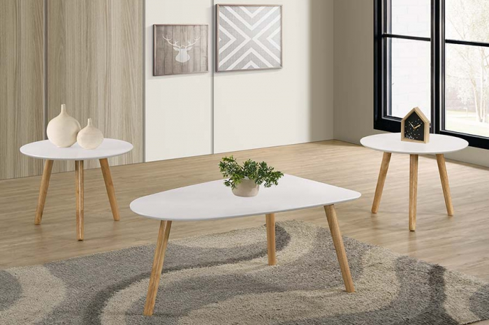 Markiz_1_2_Coffee_Set_White_ - 1+2 & 1+4 Coffee Table Set - Golden Tech Furniture Industries Sdn Bhd