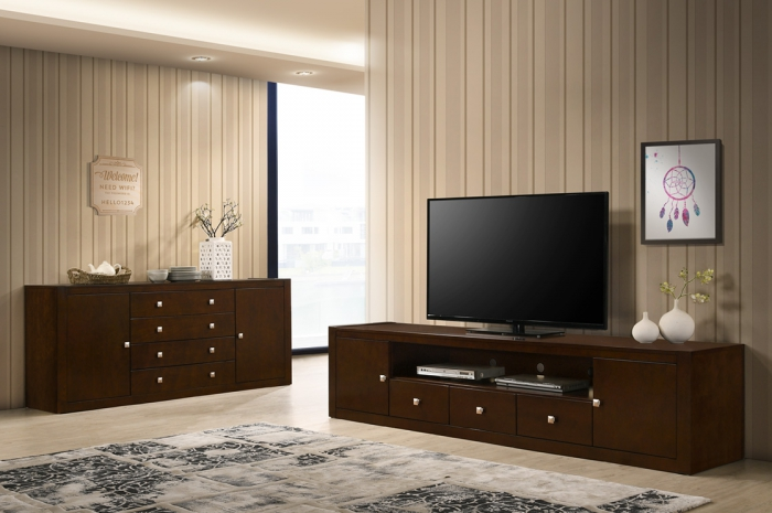 Moda-MDR Sideboard 1900 & TV Console 2400 - Sideboard & TV Console - Golden Tech Furniture Industries Sdn Bhd