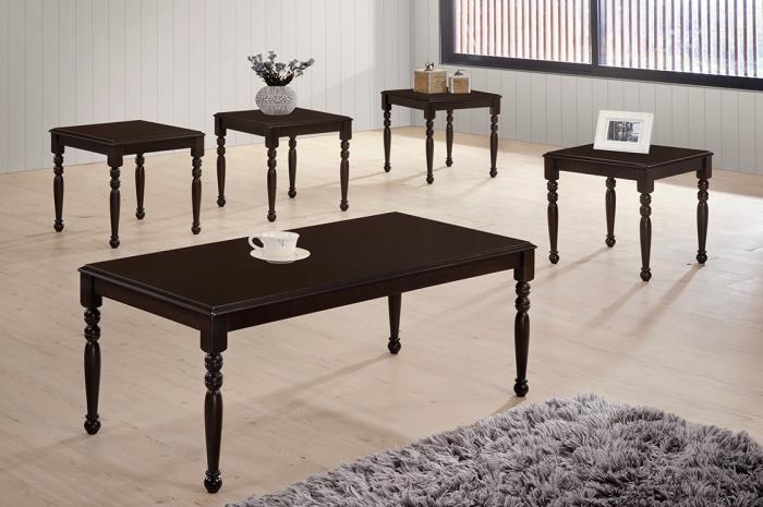 Nabila 1+4 Coffee Table Set - 1+2 & 1+4 Coffee Table Set - Golden Tech Furniture Industries Sdn Bhd