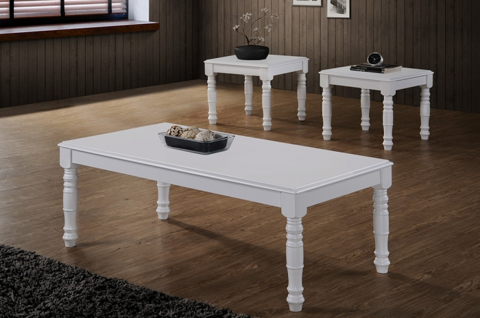 Raffa 1+2 Coffee Table Set - 1+2 & 1+4 Coffee Table Set - Golden Tech Furniture Industries Sdn Bhd