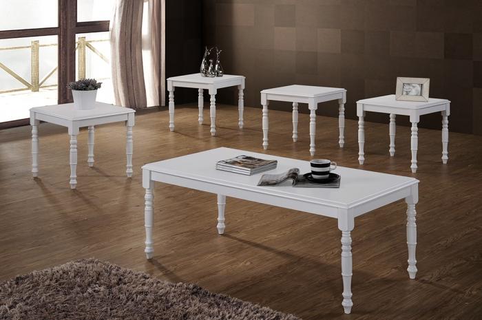 Raffa 1+4 Coffee Table Set - 1+2 & 1+4 Coffee Table Set - Golden Tech Furniture Industries Sdn Bhd