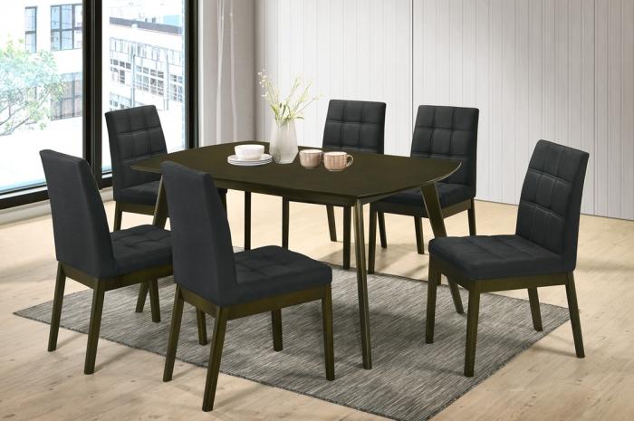 Rano 1+6 Dining Set Yutu Table 900 x 1500mm - Dining Set - Golden Tech Furniture Industries Sdn Bhd
