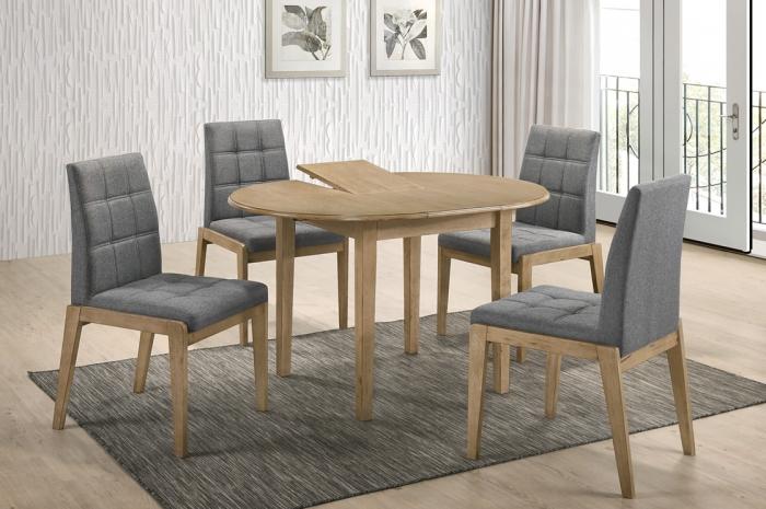 Riko 1+4 v Linah Ext.Table - Dining Set - Golden Tech Furniture Industries Sdn Bhd