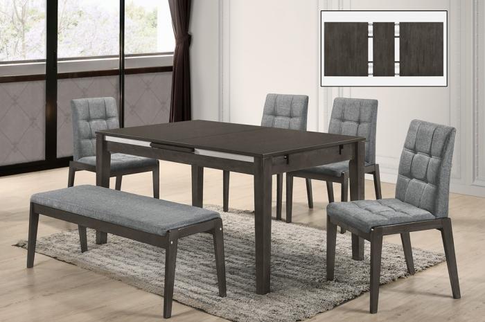 Riko 1+4+1 Mario Lifting Table 900 x 1500+400 - Dining Set - Golden Tech Furniture Industries Sdn Bhd