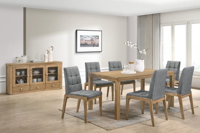 Riko 1+6 1000 x 180  Ramos Table v Ramos SideBoard - Dining Set - Golden Tech Furniture Industries Sdn Bhd