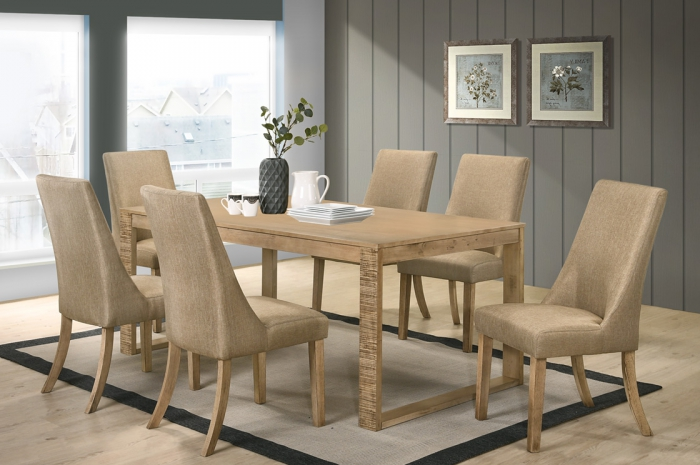 Sogo 1+6 Atom-BSL Table 1000 x 1800 - Dining Set - Golden Tech Furniture Industries Sdn Bhd