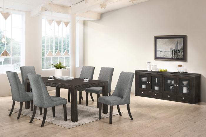 Sogo 1+6 Ramos Table 1000 x 1800 v Sideboard - Dining Set - Golden Tech Furniture Industries Sdn Bhd
