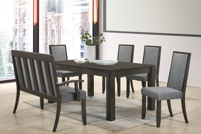 Stella 1+4+1 Ammy Table 1000 x 1600 - Dining Set - Golden Tech Furniture Industries Sdn Bhd