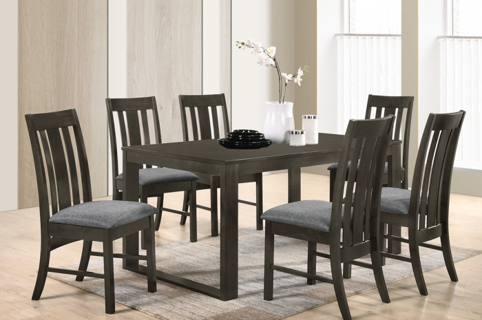 Tago 1+6 900 x 1500 Atom Table - Dining Set - Golden Tech Furniture Industries Sdn Bhd