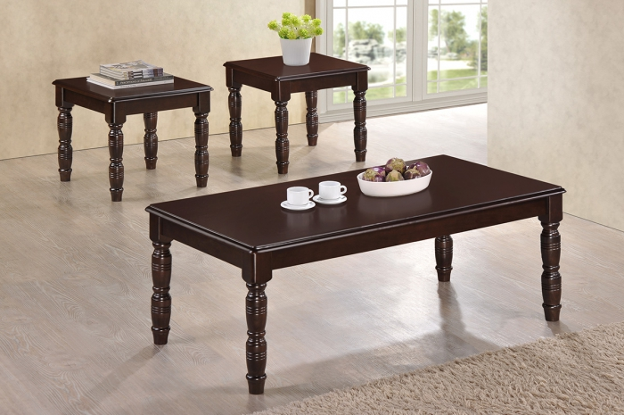 Thalia 1+2 Coffee Set - 1+2 & 1+4 Coffee Table Set - Golden Tech Furniture Industries Sdn Bhd