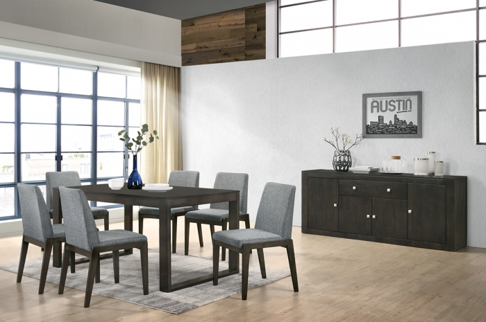 Thomas 1+6 1000 x 1800 Atom-GT Table - Dining Set - Golden Tech Furniture Industries Sdn Bhd