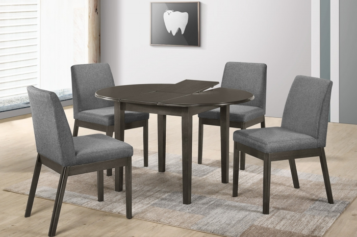 Tom 1+4 Linah Round Ext Table 900+300 x 900mm - Dining Set - Golden Tech Furniture Industries Sdn Bhd