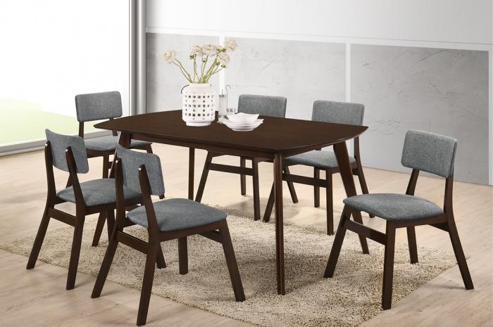 Varga 1+6 Yutu Table 900 x 1500 - Dining Set - Golden Tech Furniture Industries Sdn Bhd
