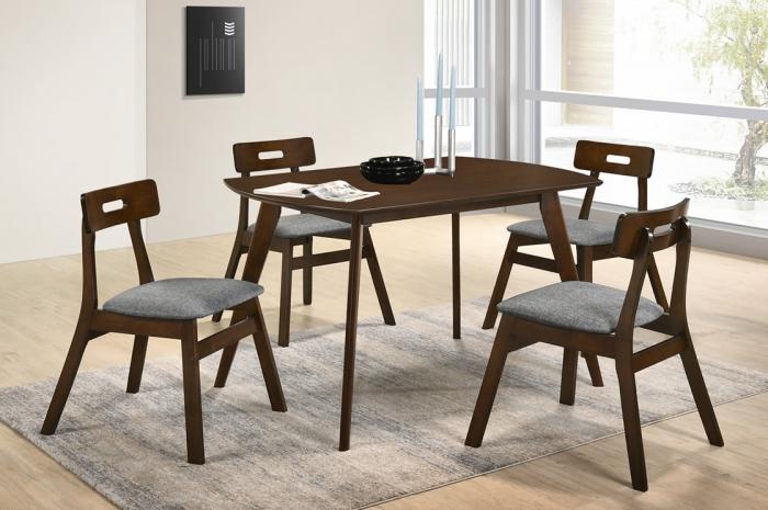 Vini 1+4 Yutu Table 800 x 1200 - Dining Set - Golden Tech Furniture Industries Sdn Bhd