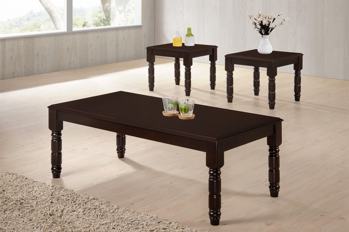 Visio 1+2 Coffee Table Set - 1+2 & 1+4 Coffee Table Set - Golden Tech Furniture Industries Sdn Bhd