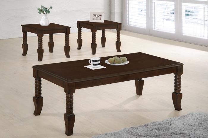 Zalika 1+2 Coffee Table Set - 1+2 & 1+4 Coffee Table Set - Golden Tech Furniture Industries Sdn Bhd
