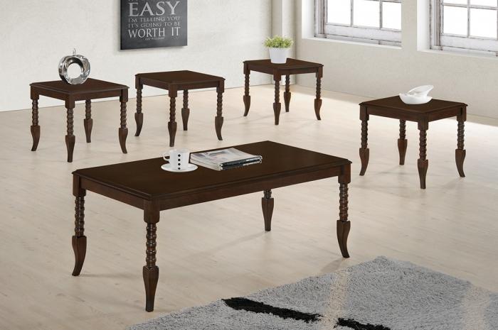 Zalika 1+4 Coffee Table Set - 1+2 & 1+4 Coffee Table Set - Golden Tech Furniture Industries Sdn Bhd
